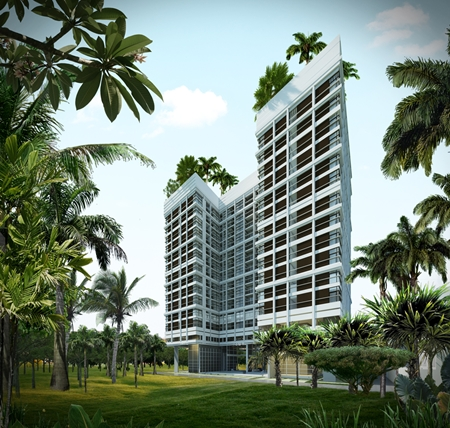 An artist's impression of the completed Treetops project.