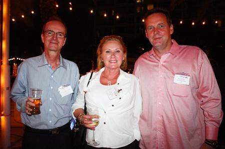 (L to R) Christian Puel, Aviation Industry, APAC, Vicki and Paul Birgan, Gold Coast Ships Ltd.
