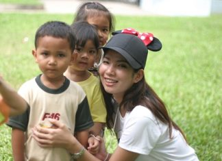 Ketsraporn Wongtho, head of the committee, loves the little children.