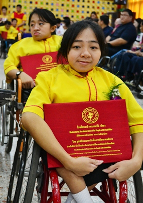 This young lady was one of seventy graduates.