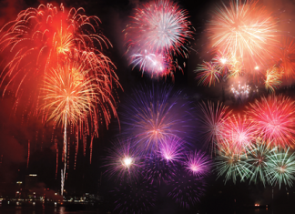 Fabulous fireworks light up Pattaya Bay during this year's 2-day International Fireworks Festival. The entire Beach Road was shut down to traffic to allow revelers to enjoy musical entertainment, along with food stalls and a flea market.