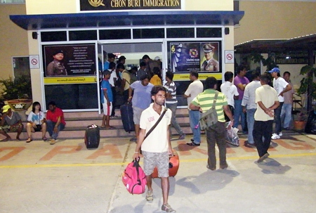 Immigration police believe sixty-four Sri Lankans were victims of human trafficking.