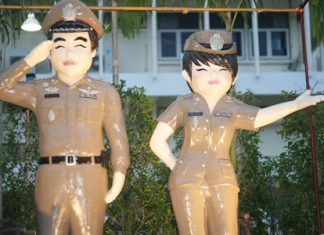 """Regional police unveil their new smiling """"mascots"""" to show residents and tourists that """"we are your best friends."""""""