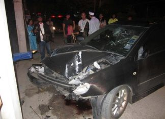Luckily no one was hurt when a British-Thai drunk driver crashed into this house.