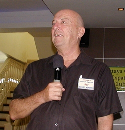 Open Forum MC Roy Albiston invites new members & guests to introduce themselves. PCEC meetings are free for all to attend, & have a delicious buffet catered by the Tavern by the Sea (part of the Amari complex) for only 220 baht. Other menu options include tea or coffee & toast, or fruit juice & fruit for 95 baht. The buffet starts at 9.30 & the meeting at 10.30.