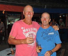 Chopper (left) & Grant - Friday's winners.
