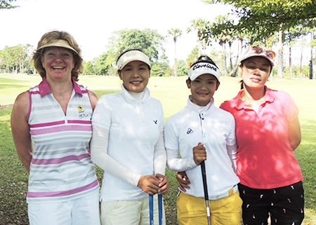 Ladies on parade at GreenValley (from the left) Gieselle, Ruk, Nut & Dah.