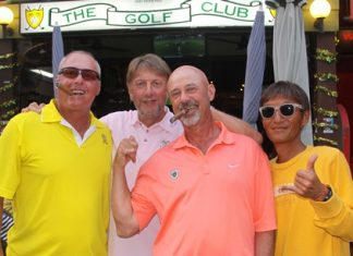 Keith Worboys (left) with Peter LeNoury, Martin Zimmerman and Ken Aihara