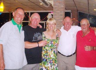 Bill Marsden, Alan Beck, Karen Craigie, Capt. Bob and Greig Ritchie.