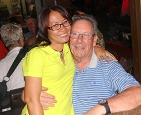 Tai with Bryan Carroll.