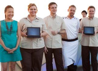 (L to R) Monrudee Yudhanaraweesak, Brand Manager of Chandon and Estates & Wines; Peta Ruiter, director of business development, Simon Bender, food & beverage director, Chef Shaun Venter, and Gerard Walker, administrative director.