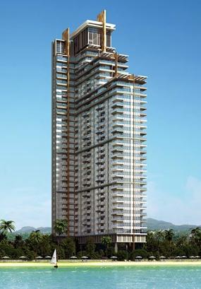 An artist's impression of the Del Mare Bangsaray Beachfront condominium.