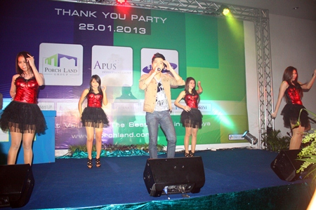 Stars from the world of entertainment perform on stage at the Furama Hotel.