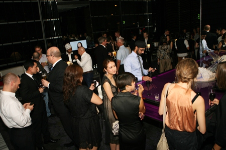 The Woobar at the W Hotel was the perfect setting for the evening.