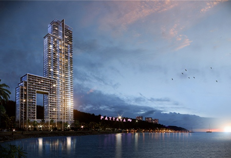 An artist's rendering of Tulip Group's Waterfront Suites & Residences.