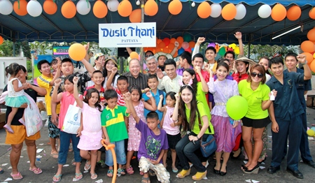 Dusit Thani Pattaya staff and management led by general manager Chatchawal Supachayanont (centre) joined the city of Pattaya in celebrating National Children's Day on January 12. Every year, Dusit Thani Pattaya fulfils this event by setting up its own booth under a tent to accommodate all activities intended for the kids who stop in with their parents while celebrating the occasion. Apart from ice cream, candy and other refreshments, the kids are also provided with school items and educated on the importance of a green environment. They take turns in sharing their thoughts on the subject and everybody is excited to win prizes. No one goes home empty handed because Moms are given a seedling to tend to and children happily strike a pose for some photos!
