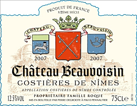 Beauvoisin wine label.