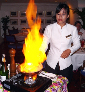 Flambé at Casa Pascal on Second Road is always first class.