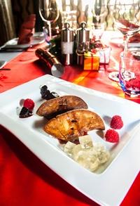 Foie gras creations at Acqua Italian restaurant.