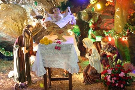 A beautiful nativity scene at St. Nicholas Church.