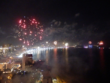 Pattaya Bay at the stroke of midnight on New Year's Eve is an incredible sight. (Photo by Peter Malhotra)