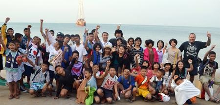 The children prepare to board the ship.