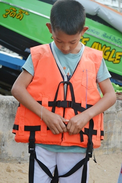 Safety first for the kids & volunteers.