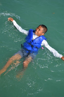 """Ah the life on the ocean wave."""
