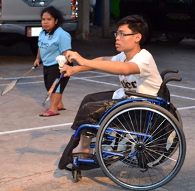 Badminton is played by players with varying degrees of disability.