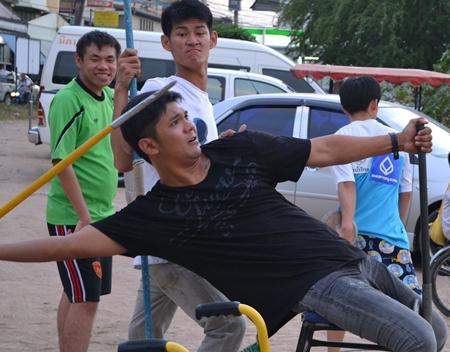 One of Pattaya's champion throwers.