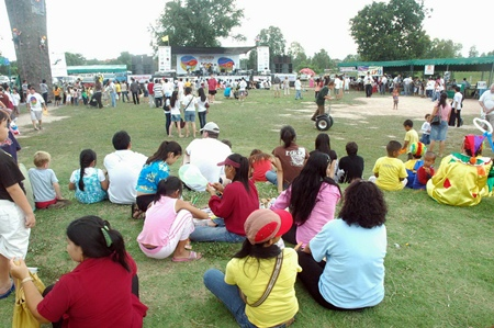 Relaxing on the fair grounds during Jesters Children's Fair 2006.