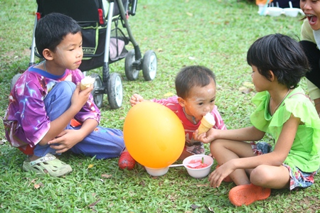 Sharing is a good thing to learn at this young age.