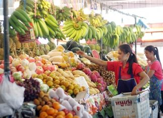 Sales for fruits and vegetables are still strong, despite prices having risen due to the large, busy season demand.