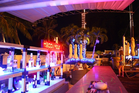 Happy Hour is from 4 to 9 p.m. every Friday at the Thank G It's Friday party at the Pullman Pattaya Hotel G's Beach Bar.