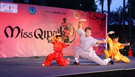 Students from the Shaolin Kung Fu Syndicate demonstrate Vusu Shaolin Kung Fu.