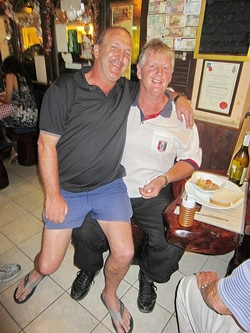 Wednesday's Low Gross and Stableford winners Rob Brown and Kevin Dunne, obviously 'just good friends'.