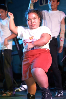 Students from the Redemptorist School put on a special Gangnam Style dance show for the athletes and officials.
