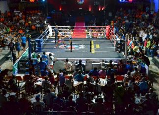 A full stadium for the Thai Boxing Charity Gala on Dec. 28.