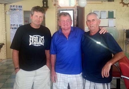 Friday winners: Geoff Boyle, David Hausman and Mitch Black.