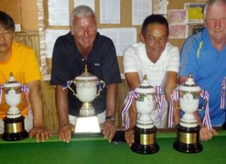 PGS Championship winners Pete Sumner and Wichai Tananusorn, flanked by runners-up Masa Takano and Mike Earley.