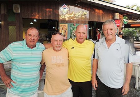 From left: Friday winners Phil Waite, Sugar Ray, Ian Heddle and John Player.