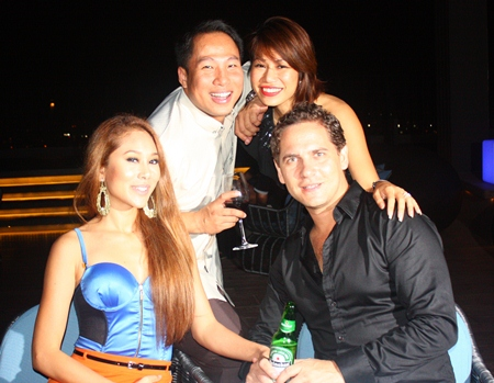 Guests enjoy the ambience at Hilton Hotel Pattaya as DJ Freddy gets them into a party mood.