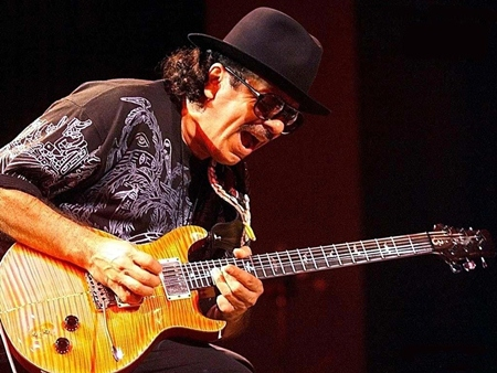 Carlos Santana 'live' in Bangkok on March 6.