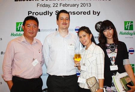 (L to R) Pinyo Siriton, Director of Sales, Amari Nova Group, Damien Kerneis, Key Account Manager of Geodis Wilson Thai Ltd., Dueanpen Thongsombat, Assistant Director of Sales, Amari Orchid Pattaya and Weeraya Sakolchai, Sales manager, Amari Orchid Pattaya.