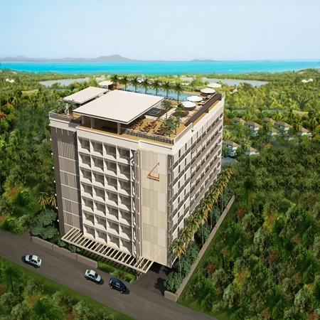 An artist's rendering shows the Abatalay Condominium development in Jomtien.