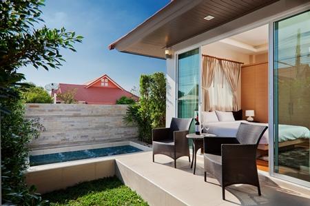 Exterior of a Resort Villa house.