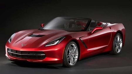 Topless Corvette.