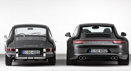 Porsche rear view for 50 years.