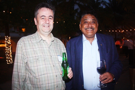 Mark Butters, Director, RSM Advisory Thailand Ltd. and Peter Malhotra, MD of Pattaya Mail Media Group.