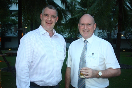 Joe Cox, Managing Director of Defence International Security Services and Graham Macdonald MBE, Former Chairman and Honorary Member of BCCT, Managing Director of MBMG Group.